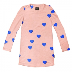 Clay heart long sleeve dress logo