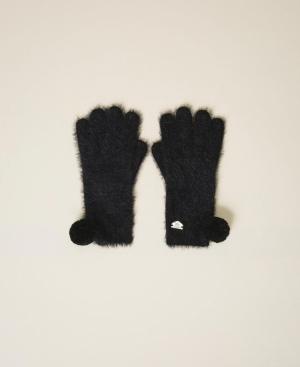 guanti nero logo